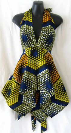 African style 102668066475012297 - African Print Halter Neck Flared Top Source by gwynnel African Inspired Fashion, African Print Fashion, Africa Fashion, Fashion Prints, Ankara Fashion, African Attire, African Wear, African Women, African Style