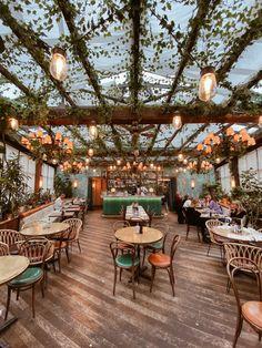 Outdoor Restaurant Design, Architecture Restaurant, Rooftop Restaurant, Modern Restaurant, Restaurant Interior Design, Modern Cafe, Cafe Shop Design, Coffee Shop Interior Design, Bar Design