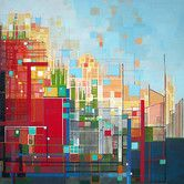 Found it at Wayfair Australia - Skyline in Colour Canvas Painting