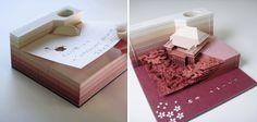 Ces blocs-notes font apparaître des sculptures au fil de leur utilisation