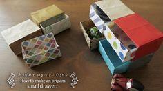 引き出しの折り方 折り図あり。How to make a drawer.折り紙2枚【Origami tutorial】(#83)