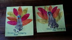 Thanksgiving Footprint Turkeys