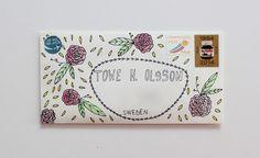 ABCDELI: watercolors + envelope