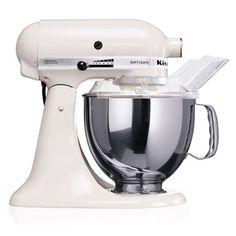 """KitchenAid Artisan Robot de Cozinha – Branco <3 """"A personalidade de um cozinheiro expressa-se na criação de sensuais experiências culinárias que englobam todos os sentidos, incluído a visão. A KitchenAid considera as suas batedeiras como uma extensão criativa das mãos do cozinheiro, proporcionando um óptimo controlo a nível profissional. Esta Batedeira Artisan™ Chefe Tilt é tudo isso e tem um design icônico."""""""