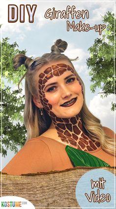 Tiefenentspannt durch die Gegend ziehen, Blätter verputzen und sich von nichts aus der Ruhe bringen lassen… Alles Dinge, die eine Giraffe sehr gut kann. Wollten wir nicht immer mal etwas für unsere Work-Life-Ballance tun?! Na wenn das nicht die beste Gelegenheit ist… Wir verkleiden uns als Giraffe! In unserem Blogbeitrag zeigen wir dir, wie du dir ein Last-Minute- Karnevals-Kostüm zaubern kannst, die passenden Make-up-Tipps gibt's gleich dazu!  #diygiraffe #giraffeschminken #giraffenmakeup Last Minute, Videos, Plastering, Dress Up, Wizards, Carnival