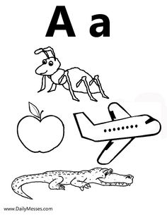 A is for alligator coloring pages ~ 1000+ images about Preschool Letter A on Pinterest ...