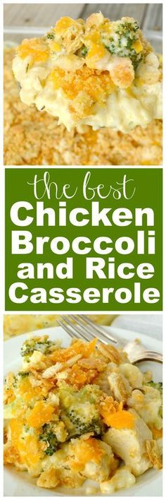 Chicken Broccoli and Rice Casserole Chicken Broccoli and Rice Casserole. This amazing casserole is loaded with chunks of chicken breasts, fresh broccoli and rice in the creamiest, most flavorful sauce. Every bite is fabulous comfort food! Yummy Recipes, New Recipes, Dinner Recipes, Cooking Recipes, Cake Recipes, Recipies, Recipes With Rice, Soup Recipes, Potato Recipes