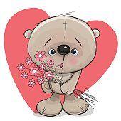 Ursos com flores