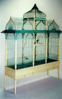 Click for larger view Finch Cage, Antique Bird Cages, The Caged Bird Sings, Decorative Bird Houses, African Grey Parrot, Indoor Pets, Finches, Jethro, Pet Cage