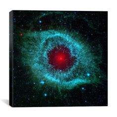 Dying Helix Nebula (Spitzer Space Telescope) Canvas Wall Art