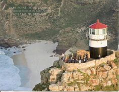 Lighthouses of South Africa. Cape Point Lighthouse-the old one. It was too high up and often obscured by mist. South Holland, African Nations, The Province, Beach Art, Stone Art, Mists, South Africa, The Good Place, Old Things
