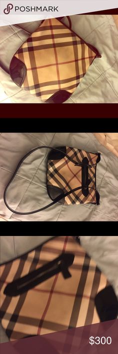 Authentic Burberry Crossbody Used but still has a lot of life!  Very well kept from a non smoking home Burberry Bags Crossbody Bags