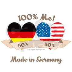 Germany/USA Heart Flag Design Infant Bodysuit | So Me, Father and Usa