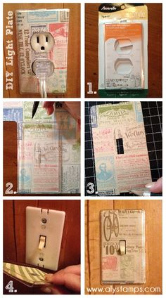 DIY Light Switch Plates with Stampin' Up! Designer Series Paper!