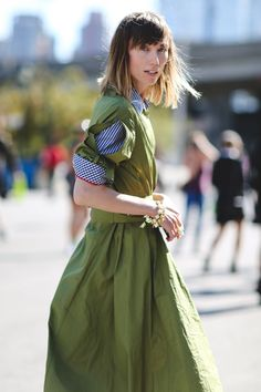 The Most Authentically Inspiring Street Style From New York #refinery29  http://www.refinery29.com/2015/09/93788/ny-fashion-week-spring-2016-street-style-pictures#slide-62  Roll up your sleeves....