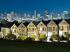 Alamo Square at Night - San Francisco