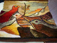 tapestry weaved birds