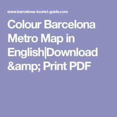 Colour Barcelona Metro Map in English|Download & Print PDF