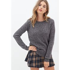 Forever 21 Women's  Metallic Knit Sweater (€22) ❤ liked on Polyvore featuring tops, sweaters, forever21, full length sweater, metallic knit sweater, long sleeve sweaters, metallic top and metallic sweater