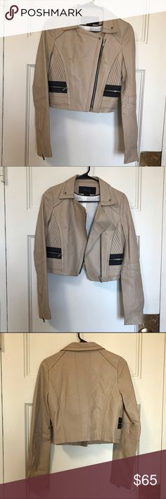 Hanii y sheep-skin cropped leather jacket Buttery soft sheepskin jacket - originally purchased at saks. Almost new. Perfect shape and condition. hanii y Jackets & Coats