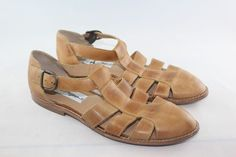 Womens Leather Sandals Shoes  Size 8 M Made in Brazil #J #Sandals