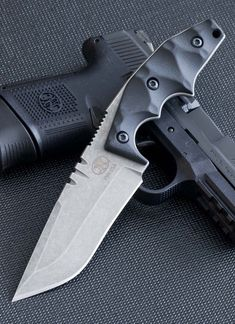 Bawidamann Blades Gunner SP Black G10 Tactical Fixed Knife Blade