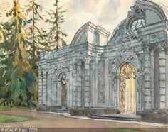 Alexandre Benois (1870-1960): The palace gates