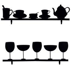 Feuilles pour déco murale avec stickers «Tea & Wine» Im Online, Online Shops, Online Shopping, Stickers, Deco, Madness, Leaves, Swiss Guard, Household