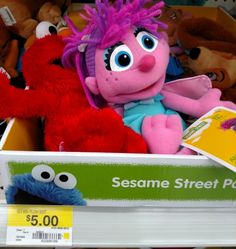 Walmart: JUST $3 for Sesame Street Plush with Printable Coupon! - http://www.couponaholic.net/2015/02/walmart-just-3-for-sesame-street-plush-with-printable-coupon/
