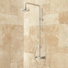 Stiles Exposed Pipe Shower System with Rainfall Shower Head & Hand Shower