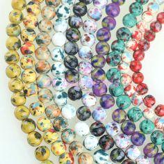 Barato 50 pçs/lote DIY Contas Forma de Jóias, Contas Redondas de Cerâmica, 8/10mm Fit Jóias Artesanais Para Jóias fazendo, Compro Qualidade Contas diretamente de fornecedores da China:  Hot Sale~ Chunky Leopard print loose Beads Diy Charm Big Hole Ceramics Beads 10~14mm,Fit Jewelry makingUSD 3.36-5.38/lo