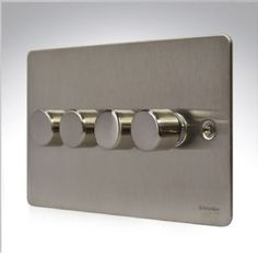 GU6242SS GET Ultimate Flat Plate Dimmer Switch 4G 2W 250w Stainless Steel