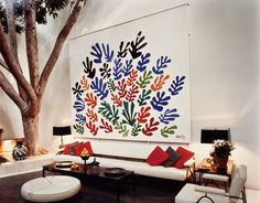 "wandrlust: "" Henri Matisse's final commission La Gerbe (1953) installed at the A. Quincy Jones designed Brody House. """