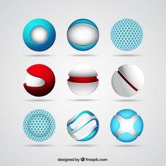 сфера логотипы Free Vector