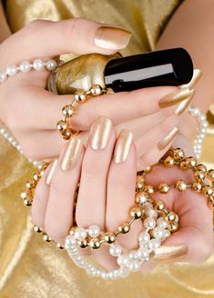 The best gold and silver nail polishes, for winter 2014.