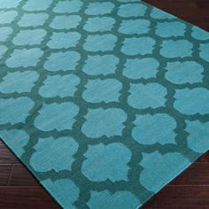 Ironwork Trellis Dhurrie Rug-  love this rug and think it would look lovely with the red and turquoise color scheme. The 4 x 6 is only $150.