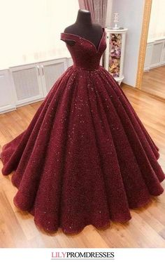 This dress could be custom made, there are no extra cost to do custom size and color, Sparkle Ball Gown V Neck Burgundy Off the Shoulder Prom Dress Quinceanera Dresses Straps Prom Dresses, Beaded Prom Dress, Backless Prom Dresses, Black Prom Dresses, Royal Dresses, Quince Dresses, Red Ball Gowns, Ball Dresses, Burgundy Formal Dress