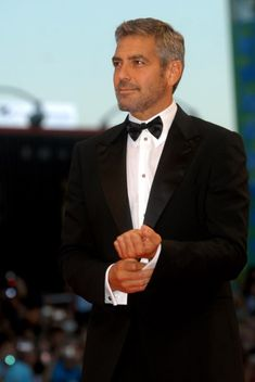 GEORGE CLOONEY  Year Inducted: 2007 -   The Oscar-winning actor and director is shown here in his most alluring mode: wearing a tuxedo and salt-and-pepper stubble.