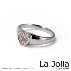 Angel's Heart - Titanium ring