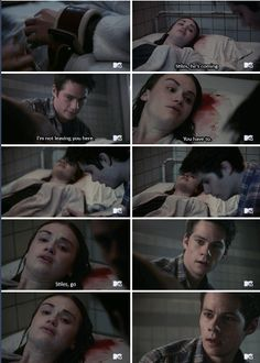 "Teen Wolf Season 5B Episode 15 ""Amplification"" Lydia Martin and Stiles Stilinski at Eichen House"