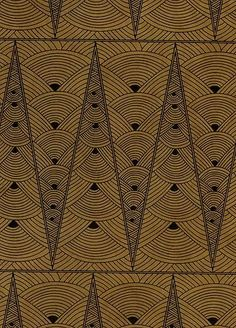 paper craft pattern paper to print Contemporary Art Deco paperpointed LamaLi paper black on tan (would love to give my bedroom door this pattern) Textiles, Textile Patterns, Textile Design, Print Patterns, Motif Art Deco, Art Deco Print, Art Deco Design, Print Print, Art Nouveau