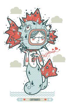 La sirena y el pez globo. by chopernawers, via Flickr