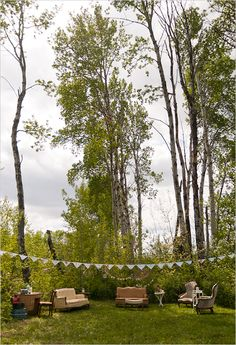 outdoor seating ideas at a wedding
