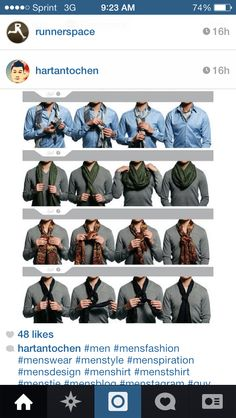 Scarf styles for men