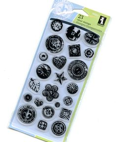 Clear Stamps from Inkadinkado - Buttons via Etsy