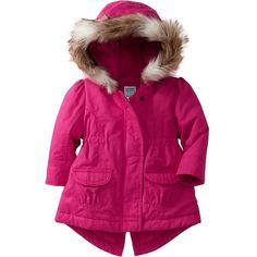 997c68d56f Old Navy Performance Fleece Lined Twill Coats For Baby - Fuchsia... ( 30