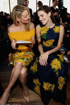Love these two! Kate Hudson and Allison Williams at Michael Kors