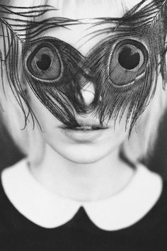 Anton Bundenko - Black & white portrait of a girl with peacock feathers covering eyes Photography Collage, Creative Photography, Portrait Photography, Photography Ideas, Funny Photography, Feather Photography, Body Photography, Photography Women, Michel De Montaigne