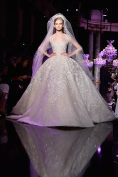 Another ethereal Elie Saab gown. Couture Wedding Gown Inspiration - Marie Claire