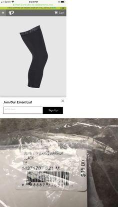 Verge Lycra Knee Warmers Medium Black